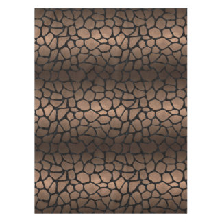 SKIN1 BLACK MARBLE & BRONZE METAL TABLECLOTH