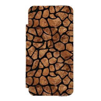 SKIN1 BLACK MARBLE & BROWN STONE INCIPIO WATSON™ iPhone 5 WALLET CASE