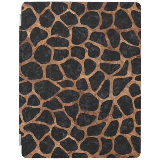 SKIN1 BLACK MARBLE & BROWN STONE (R) iPad COVER