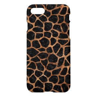 SKIN1 BLACK MARBLE & BROWN STONE (R) iPhone 8/7 CASE