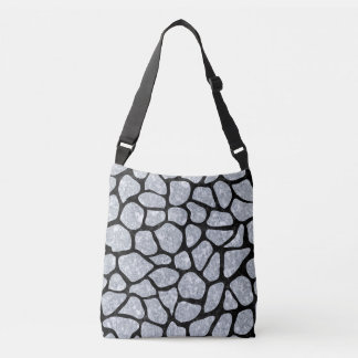SKIN1 BLACK MARBLE & GRAY MARBLE CROSSBODY BAG