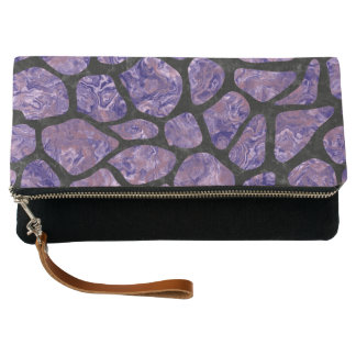 SKIN1 BLACK MARBLE & PURPLE MARBLE CLUTCH