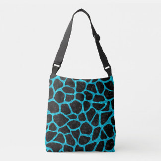 SKIN1 BLACK MARBLE & TURQUOISE MARBLE (R) CROSSBODY BAG