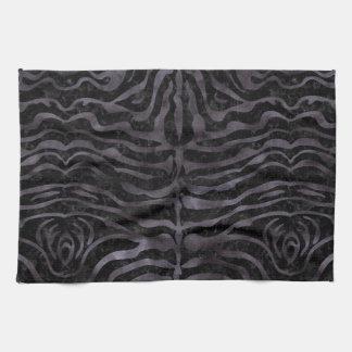 SKIN2 BLACK MARBLE & BLACK WATERCOLOR KITCHEN TOWEL