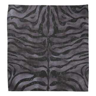 SKIN2 BLACK MARBLE & BLACK WATERCOLOR (R) BANDANA