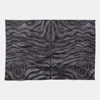 SKIN2 BLACK MARBLE & BLACK WATERCOLOR (R) KITCHEN TOWEL