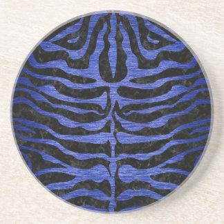 SKIN2 BLACK MARBLE & BLUE BRUSHED METAL COASTER