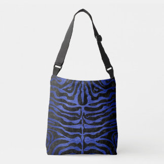 SKIN2 BLACK MARBLE & BLUE BRUSHED METAL CROSSBODY BAG