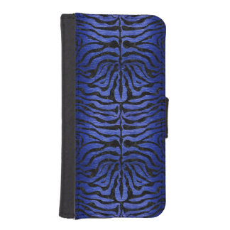 SKIN2 BLACK MARBLE & BLUE BRUSHED METAL (R) iPhone SE/5/5s WALLET CASE