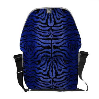 SKIN2 BLACK MARBLE & BLUE BRUSHED METAL (R) MESSENGER BAGS