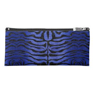 SKIN2 BLACK MARBLE & BLUE BRUSHED METAL (R) PENCIL CASE