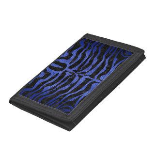 SKIN2 BLACK MARBLE & BLUE BRUSHED METAL TRIFOLD WALLETS