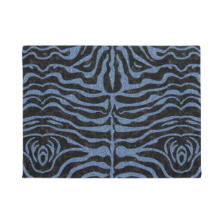 SKIN2 BLACK MARBLE & BLUE DENIM DOORMAT