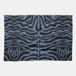 SKIN2 BLACK MARBLE & BLUE DENIM KITCHEN TOWEL