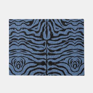 SKIN2 BLACK MARBLE & BLUE DENIM (R) DOORMAT