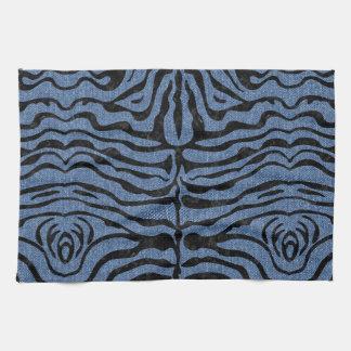 SKIN2 BLACK MARBLE & BLUE DENIM (R) KITCHEN TOWEL