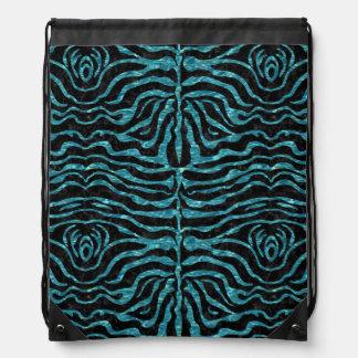 SKIN2 BLACK MARBLE & BLUE-GREEN WATER DRAWSTRING BAG