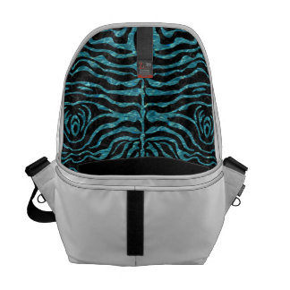 SKIN2 BLACK MARBLE & BLUE-GREEN WATER MESSENGER BAG