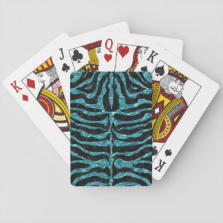 SKIN2 BLACK MARBLE & BLUE-GREEN WATER PLAYING CARDS