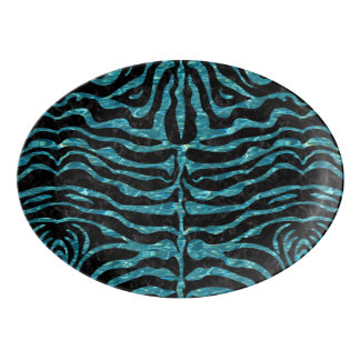 SKIN2 BLACK MARBLE & BLUE-GREEN WATER PORCELAIN SERVING PLATTER