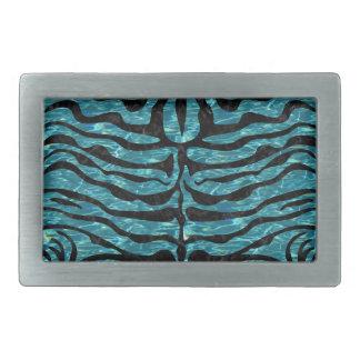 SKIN2 BLACK MARBLE & BLUE-GREEN WATER (R) BELT BUCKLES