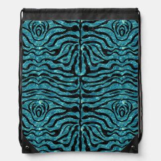 SKIN2 BLACK MARBLE & BLUE-GREEN WATER (R) DRAWSTRING BAG