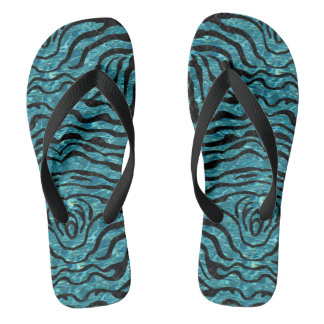 SKIN2 BLACK MARBLE & BLUE-GREEN WATER (R) FLIP FLOPS