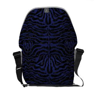 SKIN2 BLACK MARBLE & BLUE LEATHER COURIER BAG