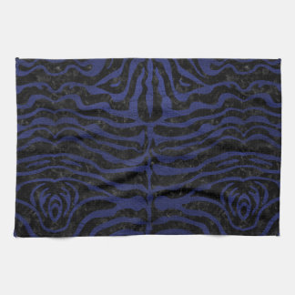 SKIN2 BLACK MARBLE & BLUE LEATHER KITCHEN TOWEL