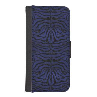 SKIN2 BLACK MARBLE & BLUE LEATHER (R) iPhone SE/5/5s WALLET CASE