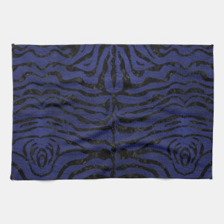 SKIN2 BLACK MARBLE & BLUE LEATHER (R) KITCHEN TOWEL