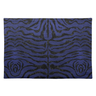SKIN2 BLACK MARBLE & BLUE LEATHER (R) PLACEMAT