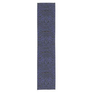 SKIN2 BLACK MARBLE & BLUE LEATHER (R) SHORT TABLE RUNNER