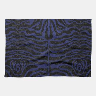 SKIN2 BLACK MARBLE & BLUE LEATHER TOWELS