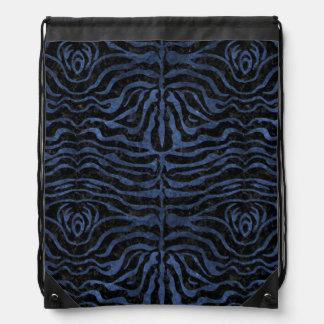 SKIN2 BLACK MARBLE & BLUE STONE DRAWSTRING BAG