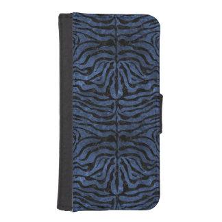 SKIN2 BLACK MARBLE & BLUE STONE (R) iPhone SE/5/5s WALLET CASE