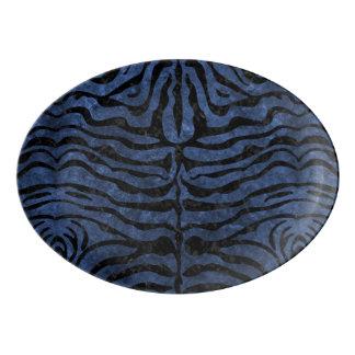 SKIN2 BLACK MARBLE & BLUE STONE (R) PORCELAIN SERVING PLATTER