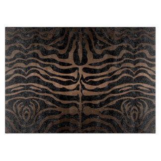 SKIN2 BLACK MARBLE & BRONZE METAL CUTTING BOARD