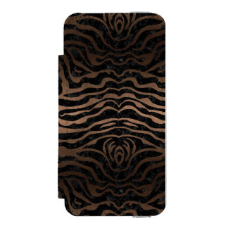 SKIN2 BLACK MARBLE & BRONZE METAL INCIPIO WATSON™ iPhone 5 WALLET CASE