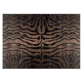 SKIN2 BLACK MARBLE & BRONZE METAL (R) CUTTING BOARD