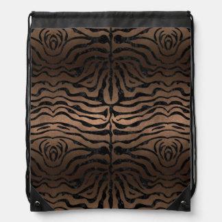 SKIN2 BLACK MARBLE & BRONZE METAL (R) DRAWSTRING BAG