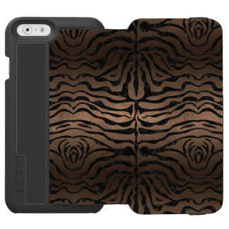SKIN2 BLACK MARBLE & BRONZE METAL (R) INCIPIO WATSON™ iPhone 6 WALLET CASE