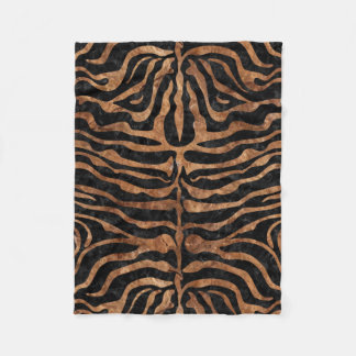 SKIN2 BLACK MARBLE & BROWN STONE FLEECE BLANKET