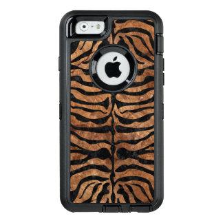 SKIN2 BLACK MARBLE & BROWN STONE (R) OtterBox DEFENDER iPhone CASE