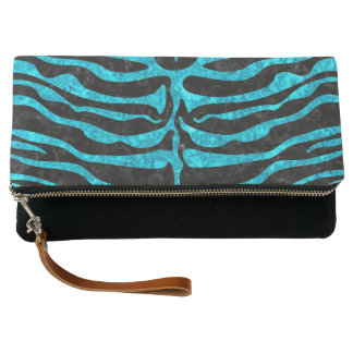 SKIN2 BLACK MARBLE & TURQUOISE MARBLE CLUTCH
