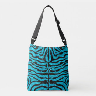SKIN2 BLACK MARBLE & TURQUOISE MARBLE (R) CROSSBODY BAG