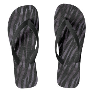 SKIN3 BLACK MARBLE & BLACK WATERCOLOR FLIP FLOPS