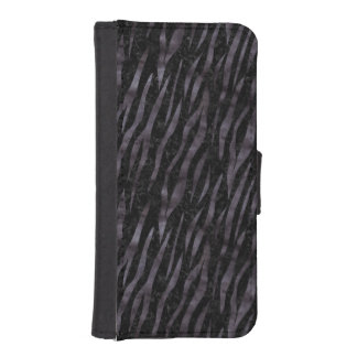 SKIN3 BLACK MARBLE & BLACK WATERCOLOR iPhone SE/5/5s WALLET CASE