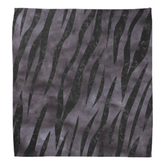 SKIN3 BLACK MARBLE & BLACK WATERCOLOR (R) BANDANA