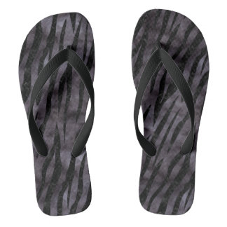 SKIN3 BLACK MARBLE & BLACK WATERCOLOR (R) FLIP FLOPS